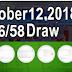 6/58 Lotto Result - October 12, 2018 (Friday)