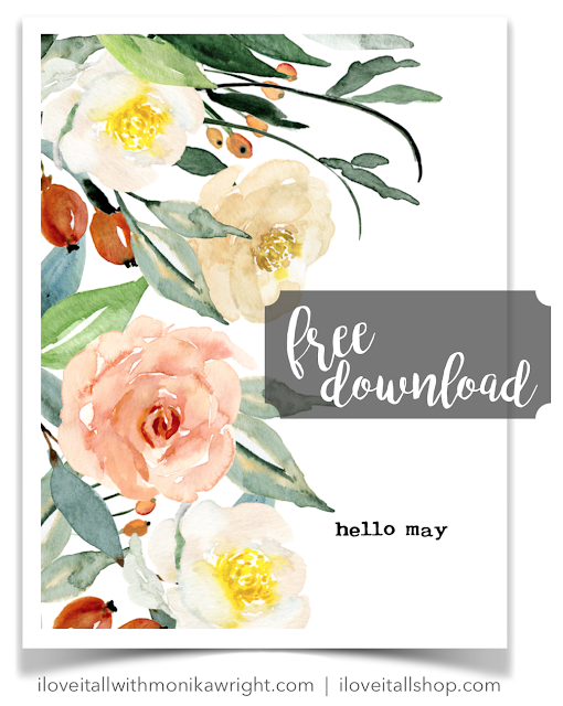 Free Hello May Journal Card