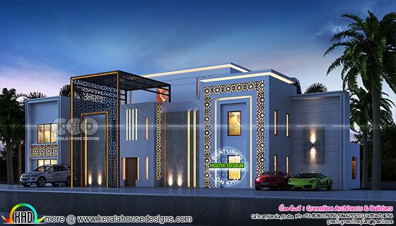 Grand ultra modern bedroom home plan