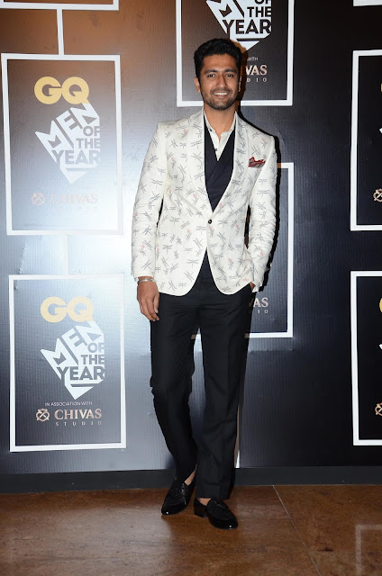 Vicky Kaushal, winner of the 'Breakthrough Talent Award' at GQ Men of the Year Awards 2016