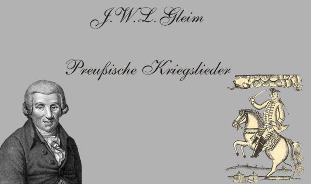 J.W.L.Gleim und Pferd +Reiter