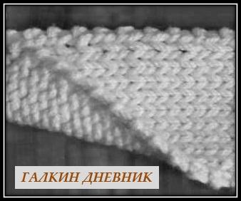 vyazaniya sharfa spicami kromka uzelkami