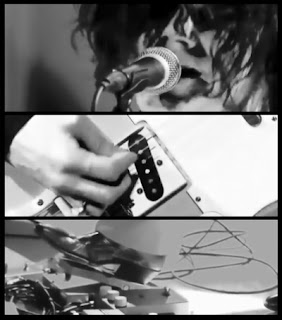 Jack White in performance collage