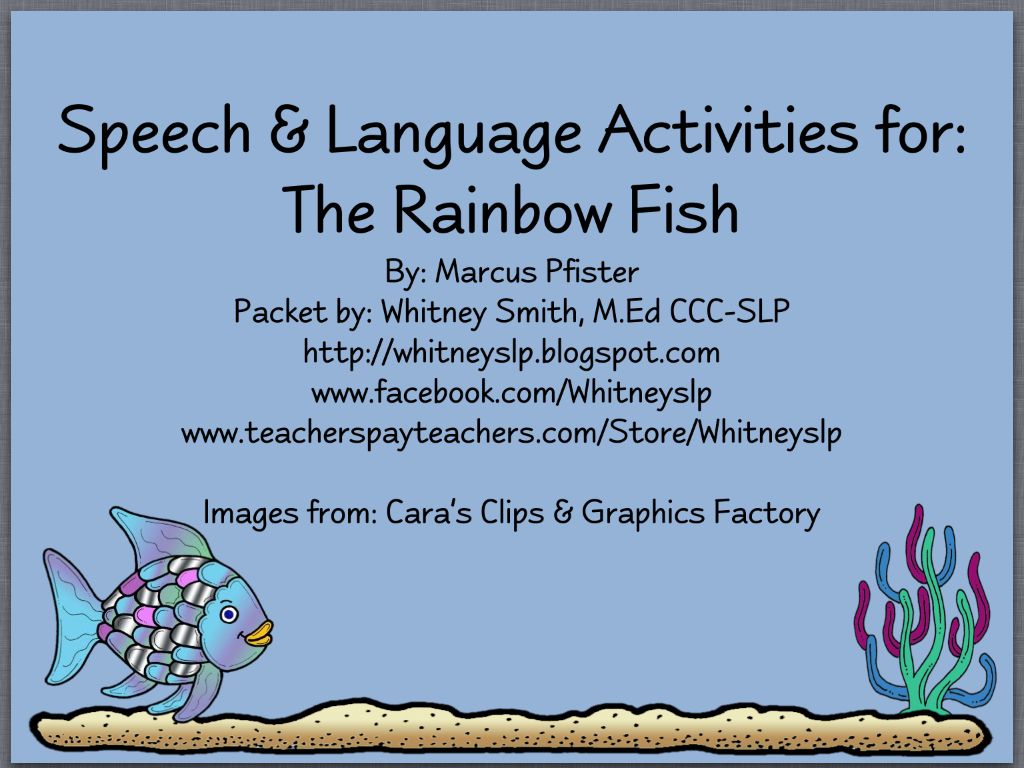 Rainbow Fish Worksheets