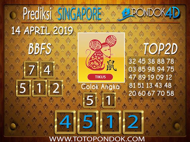 Prediksi Togel SINGAPORE PONDOK4D 14 APRIL 2019