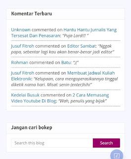 Memasang Komentar Terbaru di gadget Blogger - Seloki