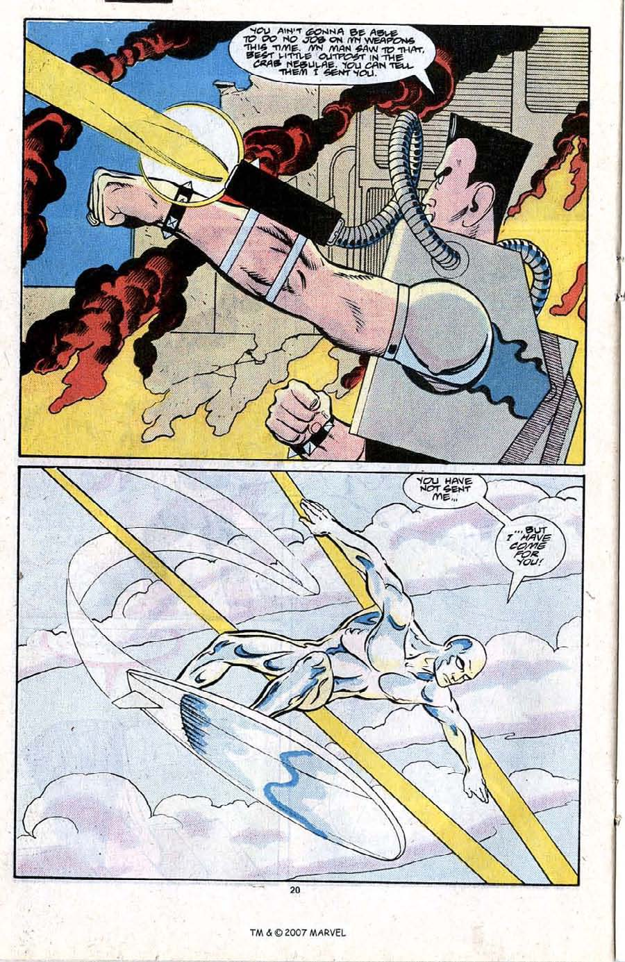 Read online Silver Surfer (1987) comic -  Issue #21 - 22