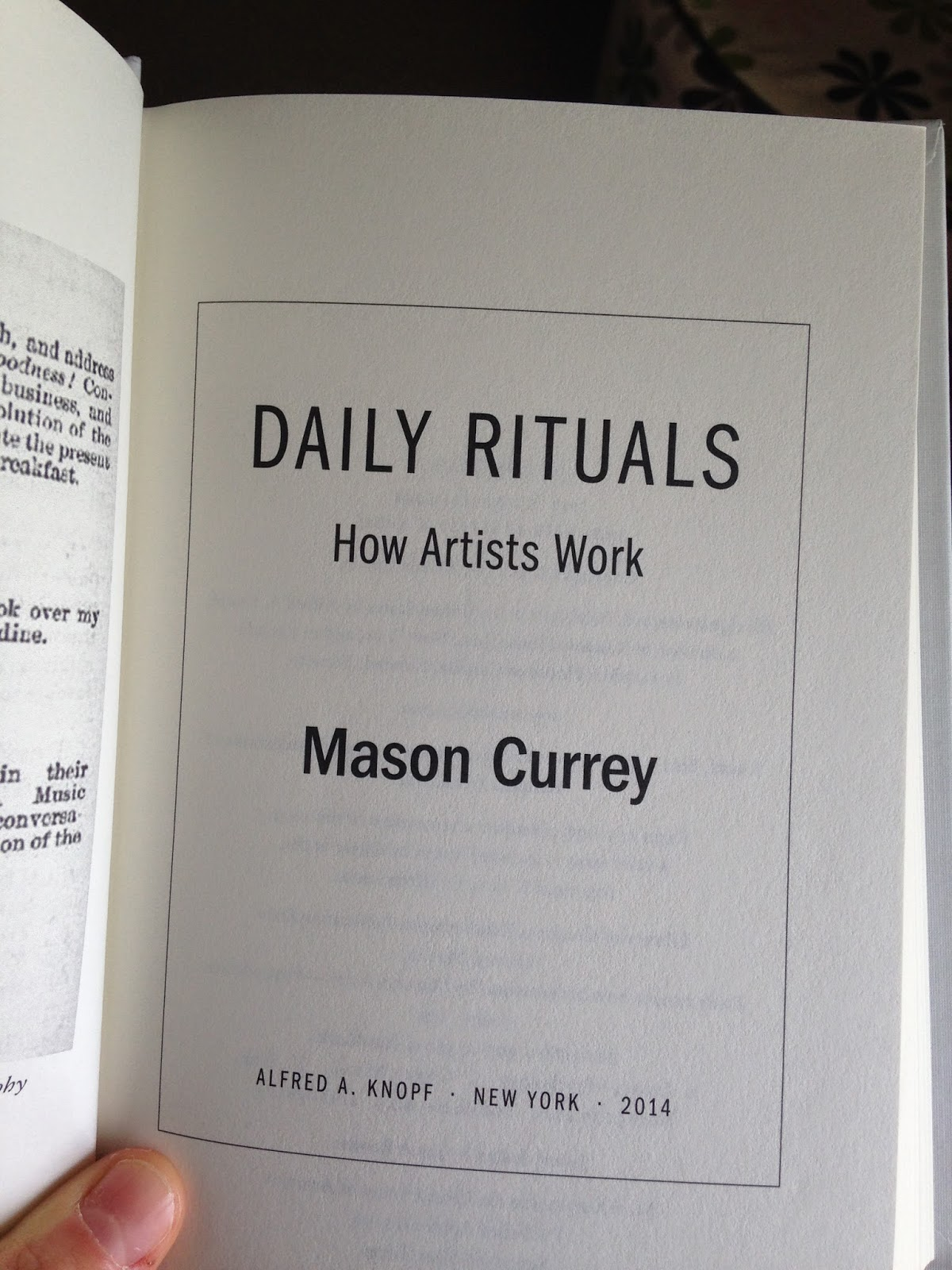 Daily Rituals by Mason Currey (How Artists Work)