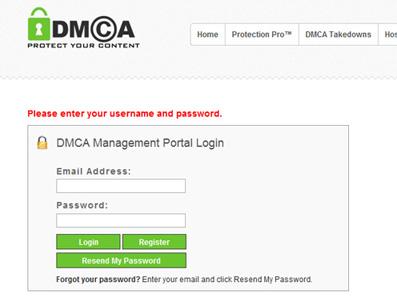 DMCA Digital Millennium Act