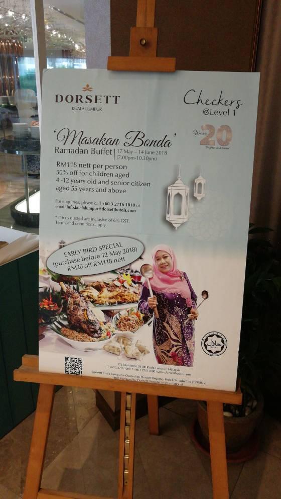 Buffet Ramadhan 'Masakan Bonda' di Dorsett Kuala Lumpur.