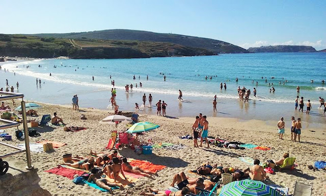 playa mayor de Malpica 2015
