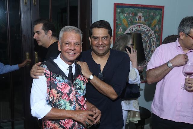 Designer Hemant Sagar with Nikhil Khanna
