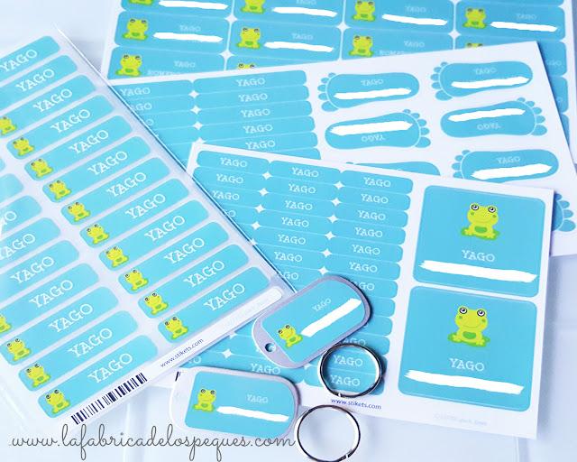 Stikets para marcar la ropa de los niños