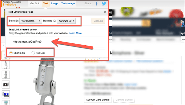 How to make Amazon Affiliate Links