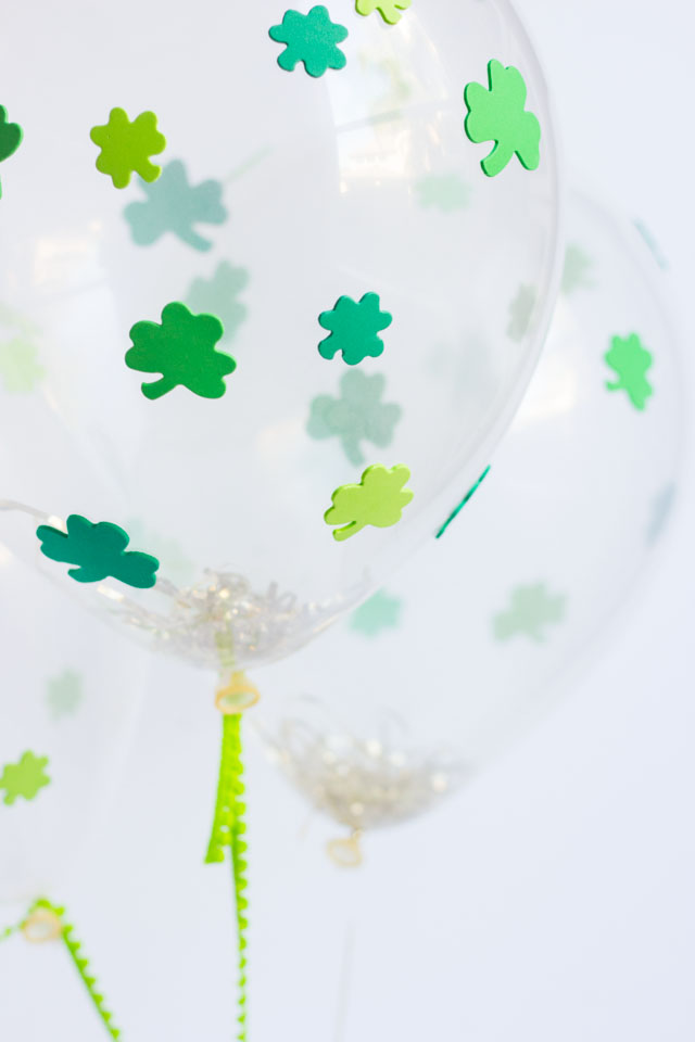 DIY Shamrock balloons - so easy to make with foam stickers!