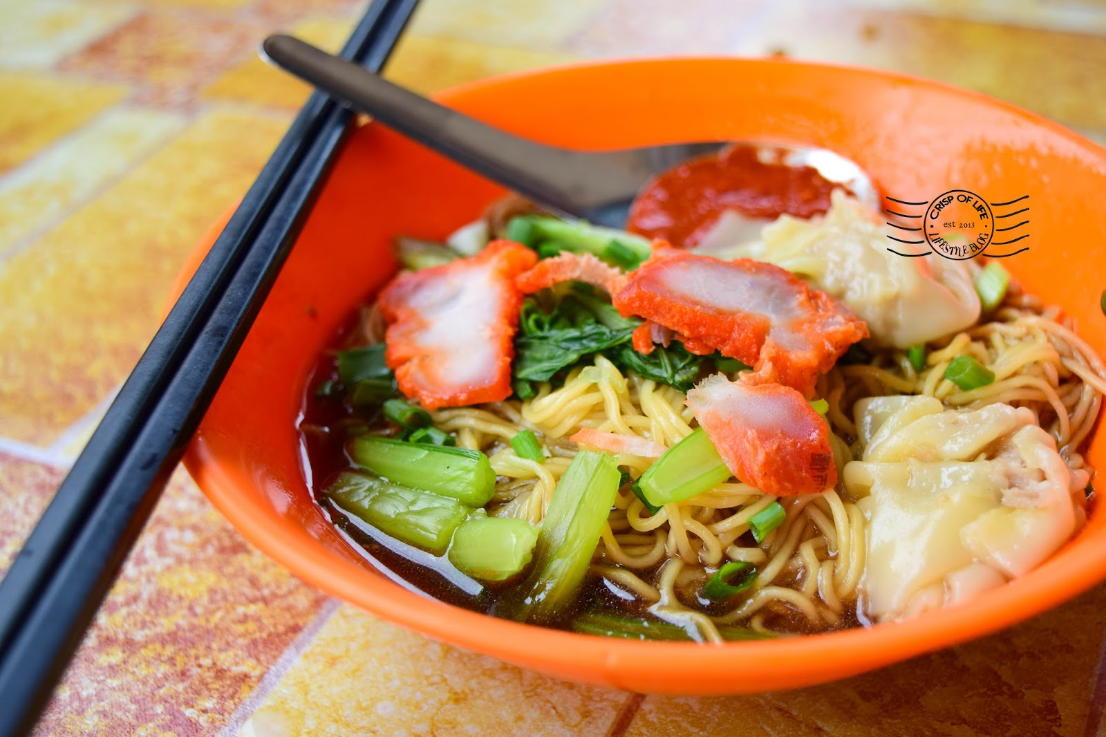 5 Hawker Food in Georgetown, Wantan Mee @ Lebuh Melayu
