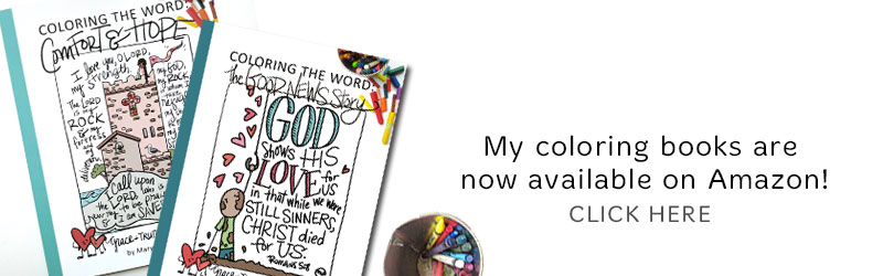 Bible verse coloring books from Marydean Draws now on Amazon!