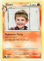 Uitnodiging Pokemon feestje