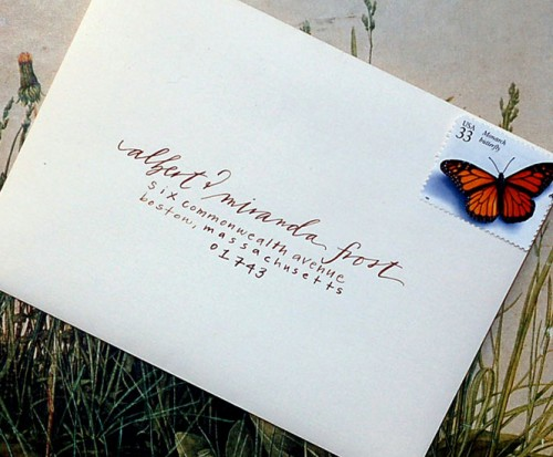 Diy Wedding Invitation Envelopes: ELLA MODERN: Wedding Wednesday:: DIY Calligraphy