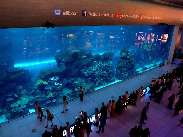 acuario gigante en Dubai