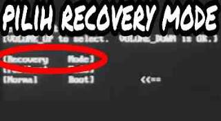 Memilih recovery mode
