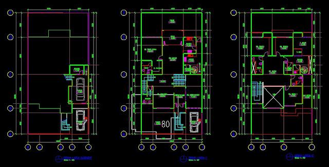 Gambar Kerja Desain Rumah Tinggal 13x14m File Dwg Kaula
