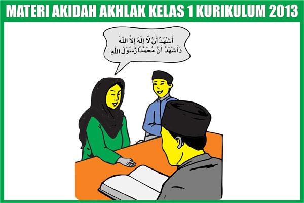 Materi Akidah Akhlak Kelas 1 SD/MI Semester 1/2 Kurikulum 2013