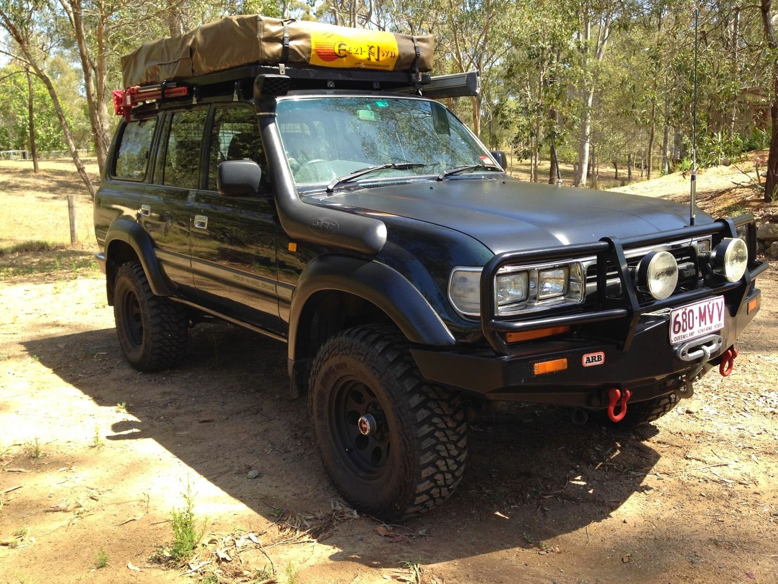 1992 toyota landcruiser gxl 80 series with camper 4x4 cars. Black Bedroom Furniture Sets. Home Design Ideas
