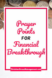 Prayer points for financial breakthrough