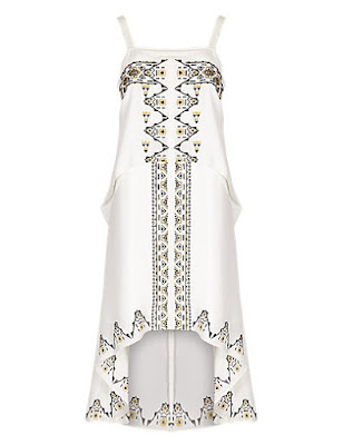 Marks and Spencer Embroidered Skater Dress