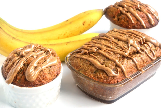 This Almond Cashew Butter Banana Bread is easy to make and is full of nutty and rich flavor. It is  made with whole-wheat flour and is moist and delicious! www.nutritionistreviews.com