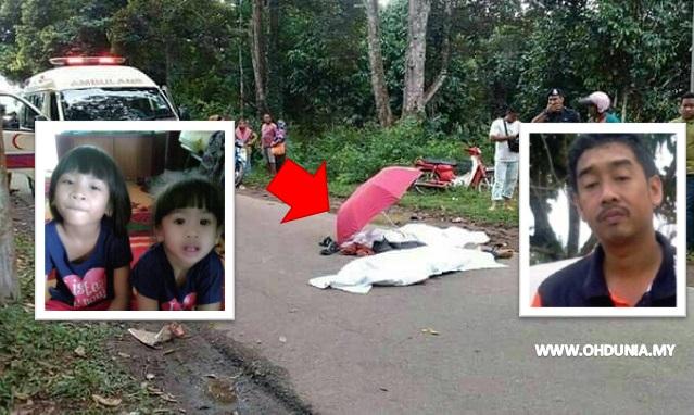Tragedi 3 Beranak Maut Digilis Lori Ketika Pulang Sekolah (9 Gambar + Video)