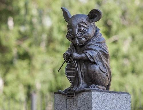 monumento a los ratones de laboratorio