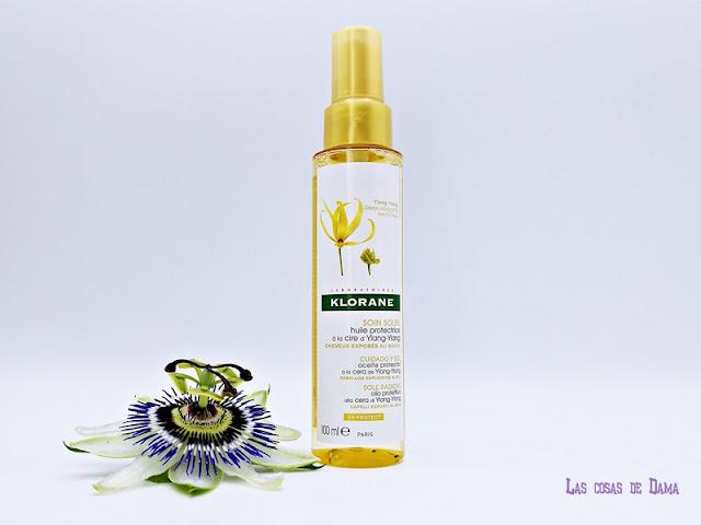 Klorane Ylang-Ylang verano sol piscina vacaciones cabello mar antisa anticloro farmacia beauty haircare