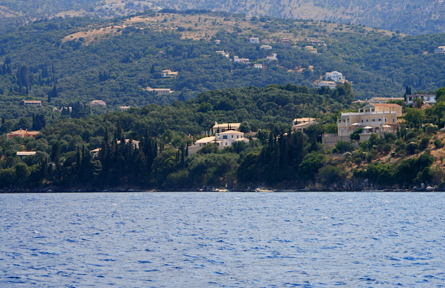 Kassiopi. with sea view. Corfu. Greece. Кассиопи. Вид с моря. Корфу. Греция.