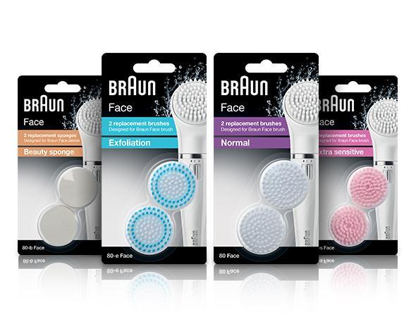 Braun Face brushes