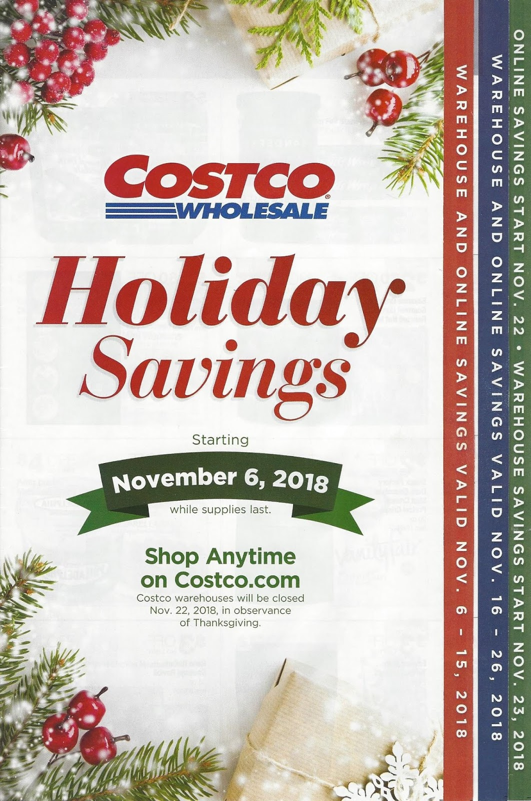 2018 Holiday Savings