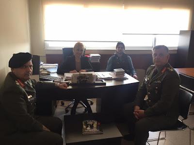 Επίσκεψη του απερχόμενου Ανώτατου Στρατιωτικού Διοικητή Φρουράς Ν. Πιερίας και του νέου Διοικητή της ΧXIV ΤΘ Ταξιαρχίας Λιτοχώρου στην Αντιπεριφερειάρχη Πιερίας