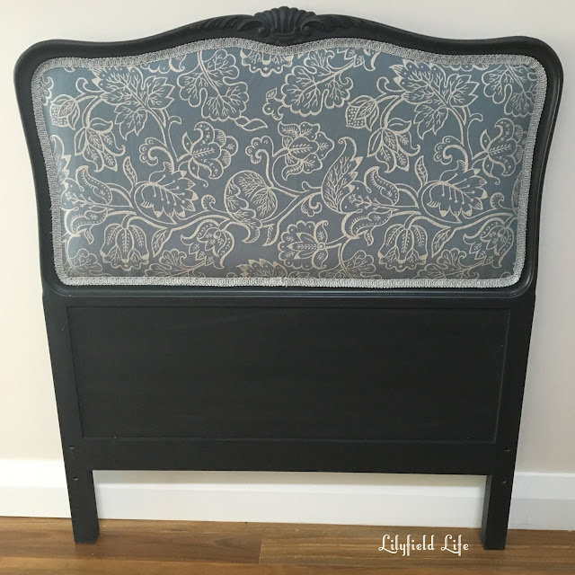 Upholstery: updating a french oak single bedhead. Lilyfield Life