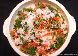 Gotu kola salad with carrot