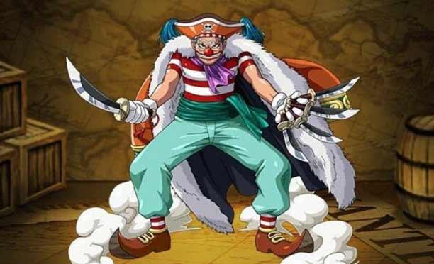 Karakter Anime Pengguna Pisau - Buggy The Clown