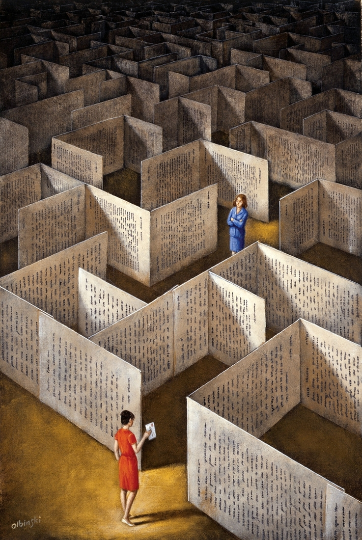 11-Labyrinth-Rafal-Olbinski-Surreal-Paintings-that-Whisper-a-Message-www-designstack-co