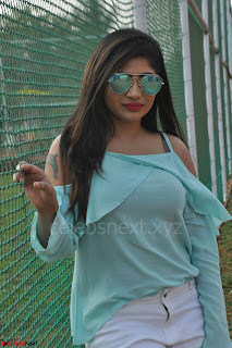 Madhulagna Das looks super cute in White Shorts and Transparent Top 12.JPG