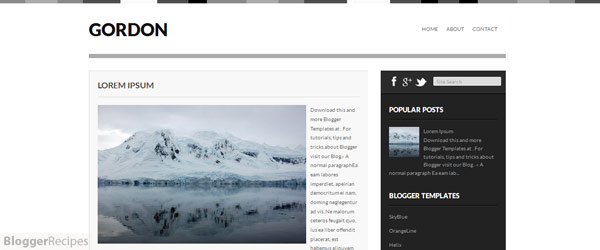 Gordon Blogger Template