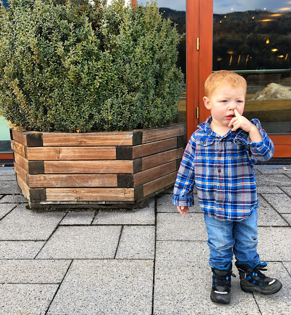 toddler picking his nose