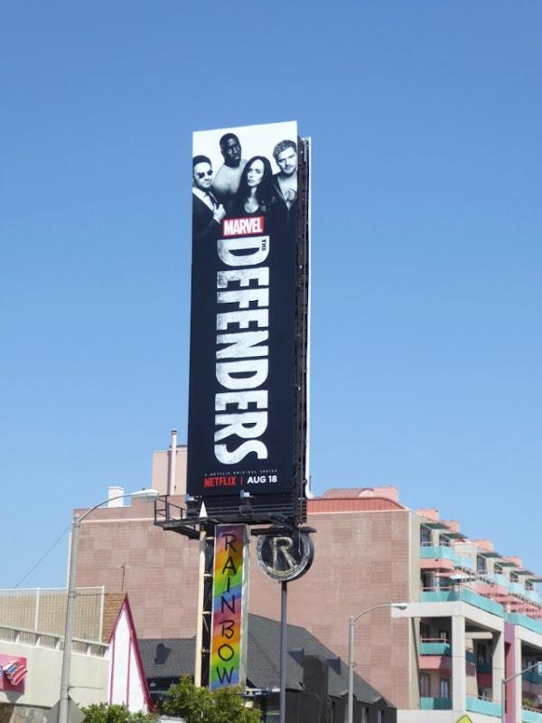 Defenders billboard Sunset Strip