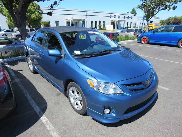 Same Corolla with new factory match paint from Almost Everything Auto Body.