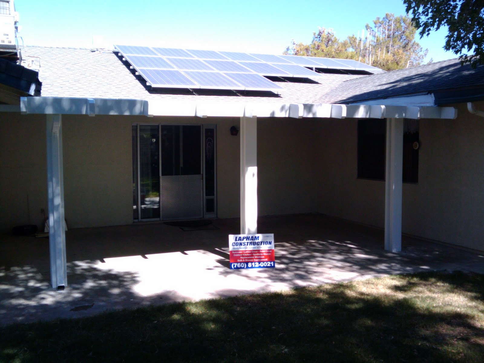 Lapham Construction Patio Cover In Bakersfield California