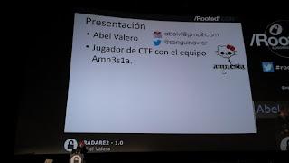 RootedCon 2017 - Abel Valero y Radare 2.0