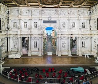 Scamozzi's stage set at the Teatro Olimpico in Vicenza